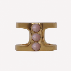 """Petit Point"" Pink Opal Orion - Ring - Gold"