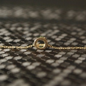 """Spot Classic"" Saturn Orbit - Necklace - Gold"