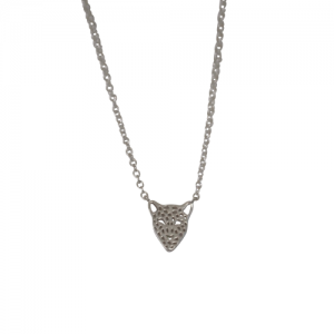 """Panthera"" Head - Necklace - Silver"
