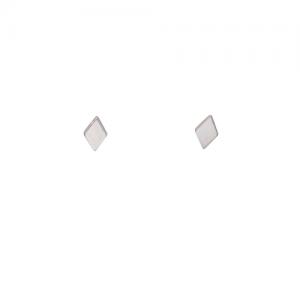 """Opalia"" Rhombus Tiny Full - Stud Earring - Silver"