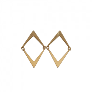 """Opalia"" Arrow - Stud Earring - Gold"