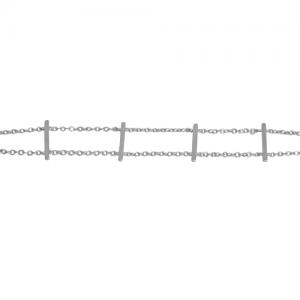 STRIPES&JOIST | Bar Row - Bracelet - Silver