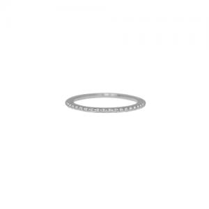 """""""Un-Deux-Trois"""" Milgrain - Ring - Silver"""