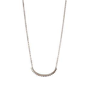 """""""Un-Deux-Trois"""" Milgrain Curva - Necklace - Silver"""