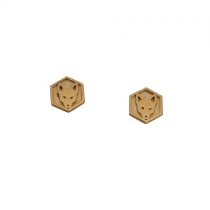 """Cityfox"" Signet - Stud Earring - Gold"