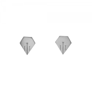 """""""Cityfox"""" Rear - Stud Earring - Silver"""