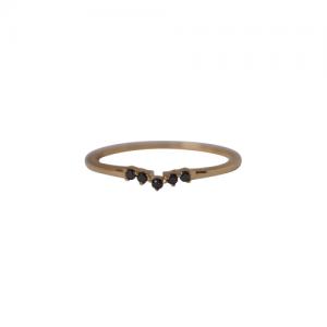"""Solitaire"" Diamond Black Curva - Ring - 18 Karat Gold"
