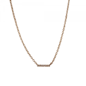 """Stripes & Joist"" Bar Seven Diamond White - Necklace - 18 Karat Gold"