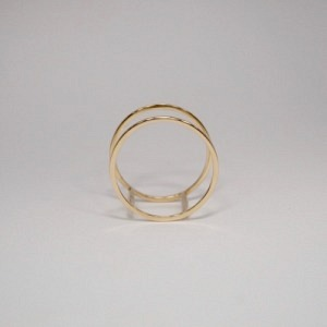 """Stripes & Joist"" Double - Ring - 18 Karat Gold"