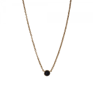 """Petit Point"" Onyx - Necklace - 18 Karat Gold"