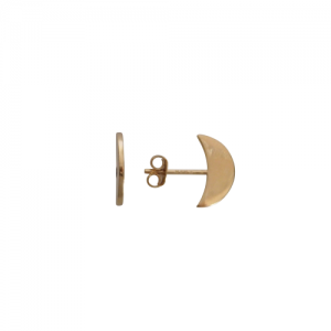 """Moon"" Half - Stud Earring - Gold"