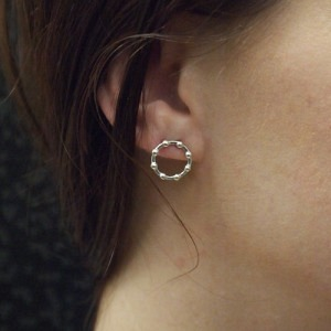 """Moon"" Full Phase - Stud Earring - Silver"