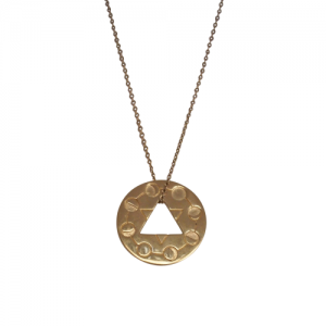 """Moon"" Cycle - Necklace - Gold"
