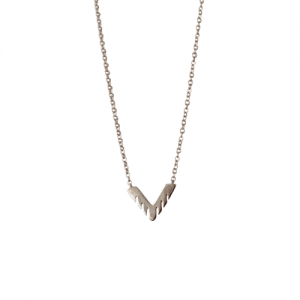 """Trinity"" Sawblade - Necklace - Silver"
