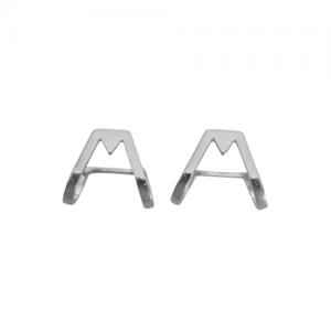 TRINITY | Triangle - Sleeve Stud Earring - Silver