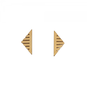 """Trinity"" Sawblade - Stud Earring - Gold"
