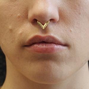 """Trinity"" Sawblade - Nose Cuff - Gold"