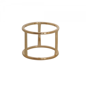 """""""Trinity"""" Cage - Ring - Gold"""