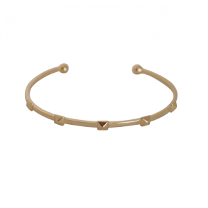 """Cleometra"" Pyramid Rivets Row - Bangle - Gold"