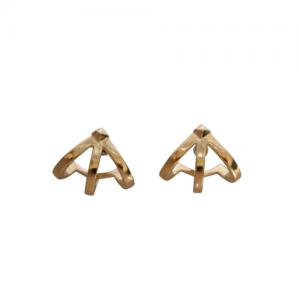 """Cleometra"" Neutron 1/2 - Sleeve Stud Earring - Gold"