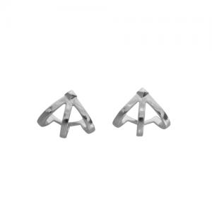 """Cleometra"" Neutron 1/2 - Stud Earring - Silver"