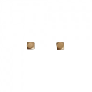 """Cleometra"" Hexagon Square - Stud Earring - Gold"