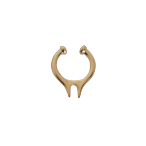 """Smilodon"" Vertical - Nose Cuff - Gold"