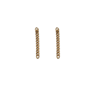 """Curb"" Classic Chain - Stud Earring - Gold"