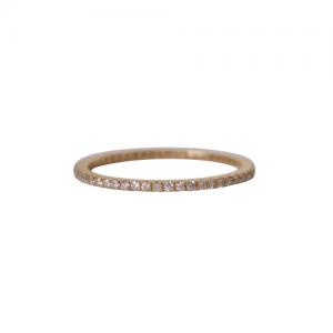 """Stripes & Joist"" Bar Infinity Diamond White - Ring - 18 Karat Gold"