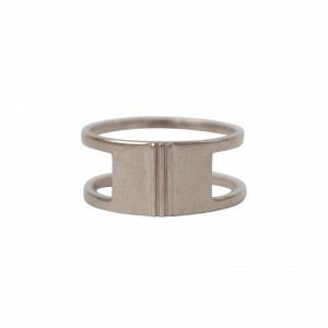 """Stripes & Joist"" Bar Three - Ring - Silver"