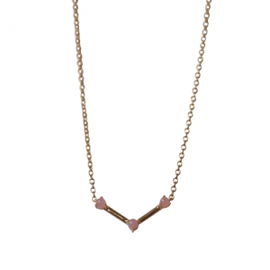 """Petit Point"" Pink Opal Musca Constellation - Necklace - 18 Karat Gold"