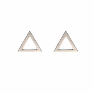TRINITY | Triangle Big - Stud Earring - Silver