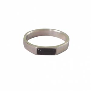 STRIPES&JOIST   Black Onyx - Ring - Silver
