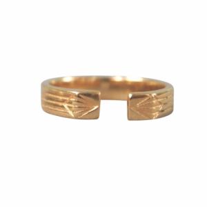STRIPES&JOIST | Open M - Ring - Gold