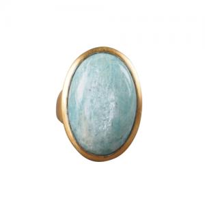 """""""Oneiro"""" Amazonite - Ring - Gold"""