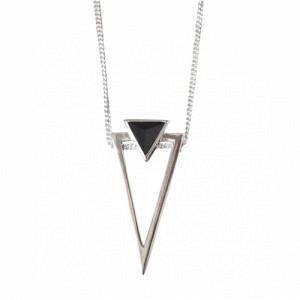 SUSPIRIUM   Black Onyx Big - Necklace - Silver