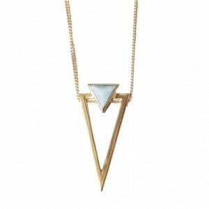 SUSPIRIUM | Amazonite Big - Necklace - Gold