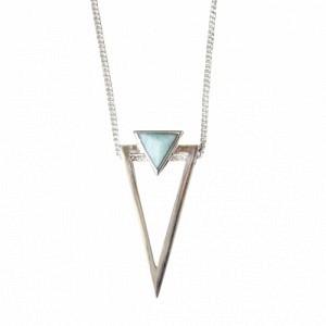 SUSPIRIUM | Amazonite Big - Necklace - Silver
