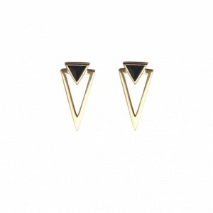 SUSPIRIUM | Black Onyx - Stud Earring - Gold