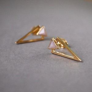 SUSPIRIUM | Pink Opal - Stud Earring - Gold