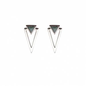 SUSPIRIUM | Amazonite - Stud Earring - Silver