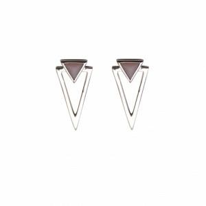 SUSPIRIUM   Pink Opal - Stud Earring - Silver