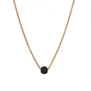 """""""Panthera"""" Notch Onyx - Necklace - Gold"""