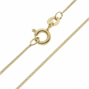 """""""Single Basic Chains"""" Panzer - 40cm Necklace - Gold"""