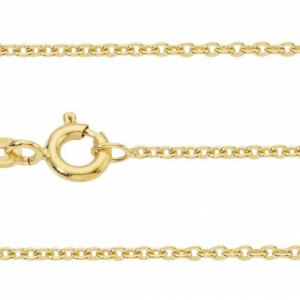 """Single Basic Chains"" Rundanker filigran - 80cm Necklace - Gold"