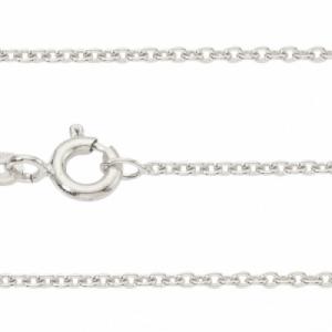 """Single Basic Chains"" Rundanker filigran - 40cm Necklace - Silver"