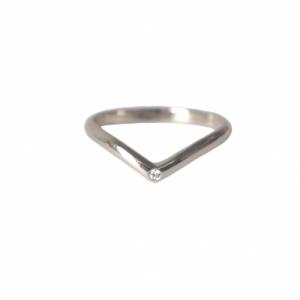 """""""Solitaire"""" Diamond White Classic - Ring - 18 Karat Whitegold"""