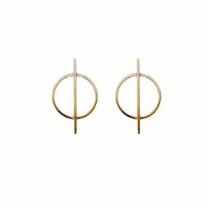 """Atmos"" Dual Mikro - Stud Earring - Gold"