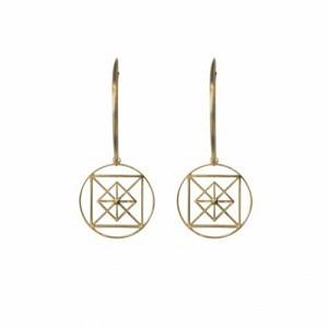 """Cleometra"" Pyramid Geometry - Creole - Gold"