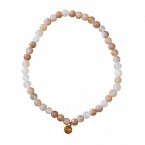 UN-DEUX-TROIS | Moonstone Nude (4) - Bracelet